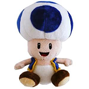 Together - PELNIN011 - Peluche - Nintendo - Mario Bross Wii Plush - Toad Bleu - 17 cm