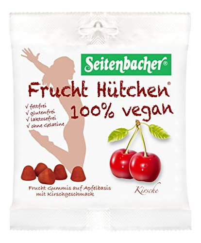 Seitenbacher 100 Prozent Vegan Frucht Hütchen Kirsche, 10er Pack (10 x 85 g)