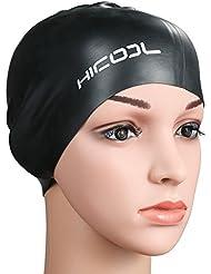 Bonnet de bain, Hicool série haute qualité Pureté oreille étanche Manchons  Bonnet de bain silicone