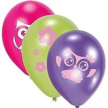 Juego 6Piezas Aire globo * búho/Cumpleaños niños celebrazione Juego Vajilla Fiesta Tema globos decoración Partito animales bosque