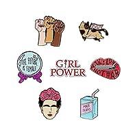 RipDesigns - 7 Feminist Enamel Pins For Backpacks (Set 1)