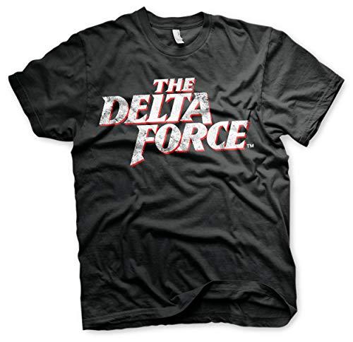Delta Force T-shirts (Offizielles Lizenzprodukt The Delta Force Washed Logo Herren T-Shirt (Schwarz), XX-Large)