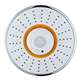 Telefoni doccia Soffione doccia ad alta pressione, altoparlante per doccia Bluetooth, soffione doccia portatile senza fili (colore : Giallo)