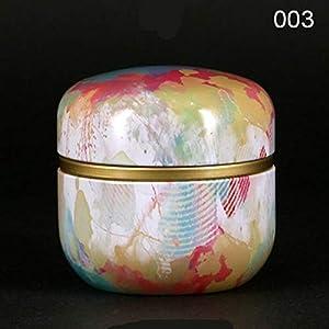 Symboat Boîte Ronde Ronde en métal de thé avec Le Couvercle