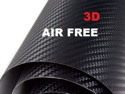 3D Carbon Fibre Vinyl Wrap Sheet Sticker for Car 24x60