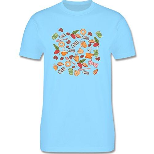 Statement Shirts - Kaffee Collage - Herren Premium T-Shirt Hellblau