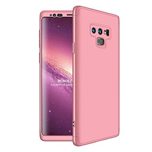 Shinyzone Coque pour Samsung Galaxy Note 9 360 Degrés Protection Complète Design 3 en 1 Housse,Très Mince PC Dur Housse de Protection Anti-Rayures Antichoc Coque,Or Rose