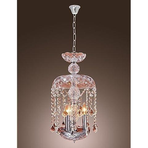 Illuminazione jiaily cristallo moderno illumina Ciondolo con 3 luci in