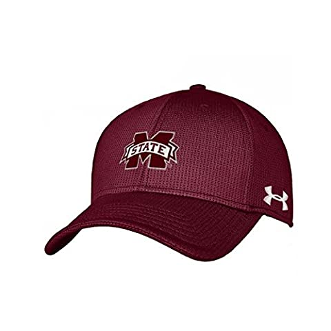 NCAA Mississippi State Bulldogs Men's Blitzing Stretch Fit Hat, Small/Medium, Maroon