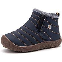 1561710f9c7c Gaatpot Kinder Winterschuhe Jungen Mädchen Schneestiefel Wasserdicht Warm  gefütterte Schlupfstiefel Winter Stiefel Sneaker Schuhe