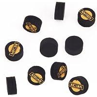 10pcs 14mm Negro 5 Billares Billar De Cuero En Capas Pool Cues Consejos