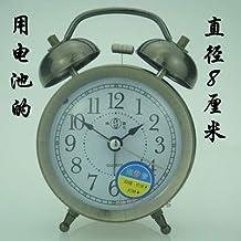 Luxuryclock Reloj Despertador Mecánico Retro-Nostalgia Cuerda Manual Reloj De Metal Sin Batería, Batería