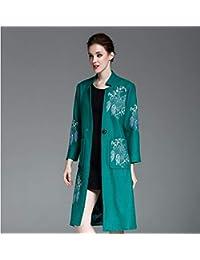 Liuxc cappotto Cappotto Giacca a Vento Invernale Primavera Cappotto  Cappotto di Lana Primavera mescolato Cappotto Lungo 2d770b1508c