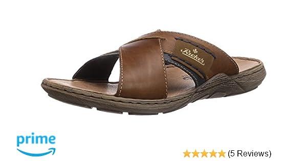 4208cda52eaed Rieker Men's 22099-25 Open Toe Sandals, Brown (Nut/Nautic/Zimt/Navy ...