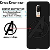 Avengers Soft Case For OnePlus 6, Case Creation (TM) 100% Black Flexible Soft Black Border Corner Protection With TPU Slim Black Silicone Matte Back Case Back Cover For OnePlus 6 / One Plus 6/ 1 + 6/ OnePlus6 2018 - Infinity War Edition Case