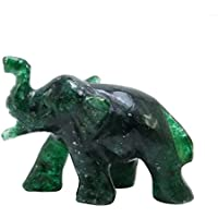 Dekorative Hand geschnitzte Aventurine Edelstein Elefant Statue Tier Miniatur Geschenk preisvergleich bei billige-tabletten.eu
