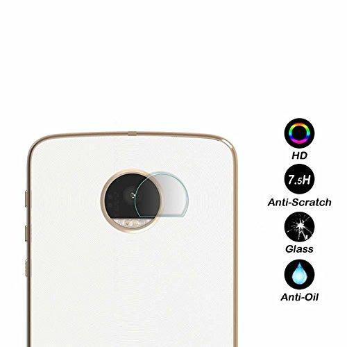 KAIBSEN® Rücken Kameralinse Schutzfolie transparent klar gehärteter Glas Protektor Film für Motorola Moto z/z Play/z Force/Z2 Play/G5/G5 Plus