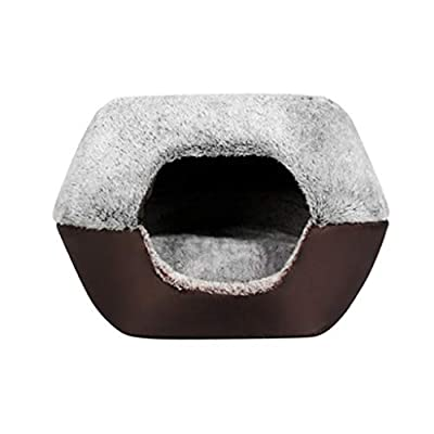 WWWWW Pet Bed Four Seasons Universal Double Warm Small Dog Pet Supplies Inside And Outside Plus Velvet Comfort More Warm Cat Dog Bed Pet Nest Foldable Waterproof Moisture-proof Bite Resistant Pet Bed by WWWWW
