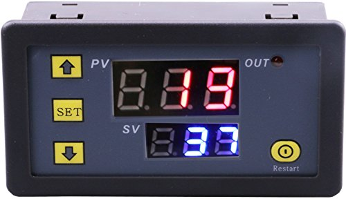 Yeeco Dual Digital Anzeigen Rot Blau LED DC 5V Timer Verzögern Relais Tafel 1500W 10A Max An aus Zeitliche Koordinierung Relais Schalter Modul