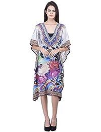 Trendif Women's Multicolor Digital Print Beach Wear Kaftan and Cover-up
