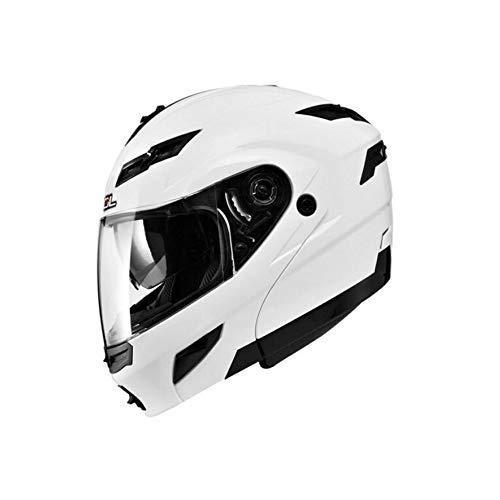 Casco moto, uomini e donne a doppia lente Design Casco open face, con luci a LED Locomotiva Four Seasons Casco universale M/L/Xl/Xxl/Xxxl /, (stile 7/8, ci sono due stili)
