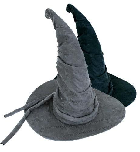 mit Kordel grau Halloween Zauberer Hexen Hut Universalgröße Erwachsene (Halloween-hexe-hüte)