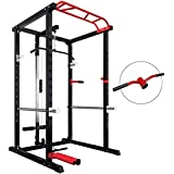 Yalla HomeGym ULTIMATE RACK 2MM Steel Tube Thickness All-in-ONE POWER CAGE with adjustable free barbell positions/triceps dip