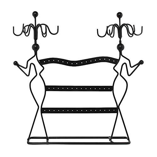 CAheadY Hohl Lady Rotating Hook Aufh?nger Ohrring Ringe Schmuck Display Rack Organizer Regal - Schwarz