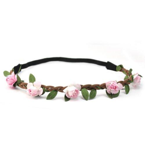 Damen Mädchen Stirnband Haarband Blumen Hippie Kopfschmuck Boheme Blüten Kranz