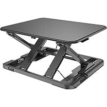 Umi. Essentials - Estación de trabajo ergonómica con altura ajustable para escritorio de pie o