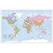 """Póster """"Mapa Político Mundial"""" Póster XXL Miller Projection/Projección (140cm x 100cm)"""