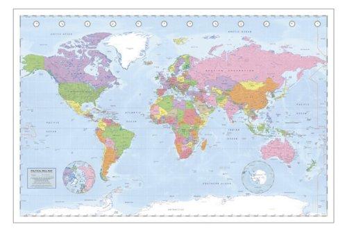 Póster 'Mapa Político Mundial' Póster XXL Miller Projection/Projección (140cm x 100cm)