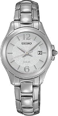 Seiko solar para mujer-reloj analógico de cuarzo de acero inoxidable SUT233P1 de Seiko