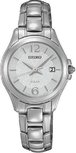 Seiko Femme Montre Bracelet Quartz analogique en Acier Inoxydable Solaire sut233p1