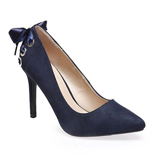 Escarpins La oeillets Bleu Femme Modeuse avec Suédine en gFFTpqA