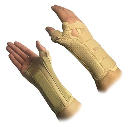 Solace - Muñequera ortopédica cómoda y protectora con soporte para mano, muñeca y pulgar