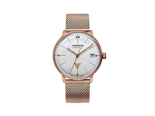 Junkers 6075M-1 Bauhaus Lady Rose Gold Plated Bracelet Watch