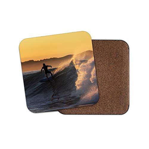 #14135 Untersetzer, Motiv: Surf Surfen Wave Sea Ocean Brother