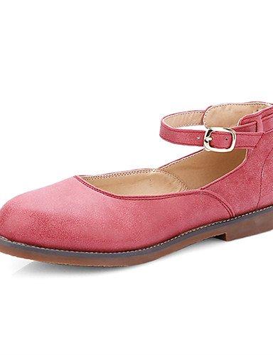 WSS 2016 Chaussures Femme-Décontracté / Habillé-Rouge / Gris / Amande-Talon Bas-Talons / Bout Arrondi-Talons-Similicuir gray-us7.5 / eu38 / uk5.5 / cn38