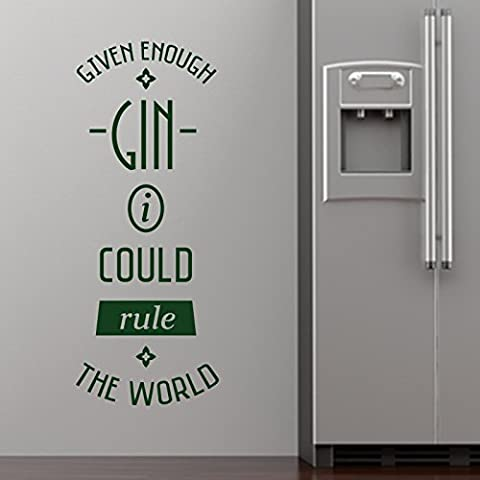 Ginebra suficiente woooowltd por StickerStudio, Verde, Small 22cm x 58cm