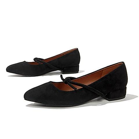 lady,summer,rough avec,chaussures de doug/pointes,asakuchi,chaussures nue-A Longueur du pied=23.8CM(9.4Inch)