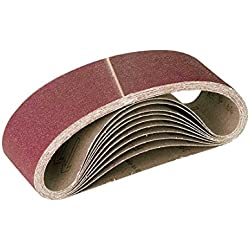 RETOL 10 bandes abrasives, 303 x 40 mm, G120, p. ponceuses à bande portatives, corindon normal