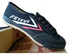 Feiyue Clásicos- Zapatos negros de tela para kung fu y parkour