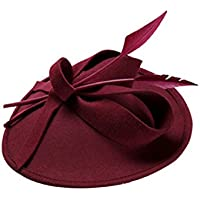 YAJIE Gorros Sombrero de Copa Elegante con Sombrero de Copa de Lana  Elegante de otoño Invierno 6cdb8860c06
