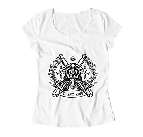The Return of The Silent King Damen T-Shirt - Weiß - Medium (Dragon Youth Tshirt)