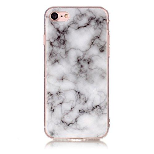 Pheant® Apple iPhone 7 (4.7 pouces) Coque Gel Étui Souple Housse de Protection Bord Transparent Cas étui en TPU Silicone Motif de Marbre Couleur-05