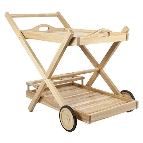 Servierwagen Grillwagen Beistellwagen Küchenwagen Teewagen Holz Top Qualität