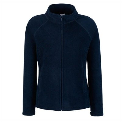 Fruit of the Loom - Lady -Fit Fleece Jacket M,Deep Navy (Raglan Navy Womens)