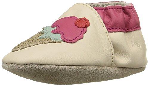 Robeez Ice Cream, Chaussures de Naissance bébé fille, Beige (Beige Clair), 21/22 EU