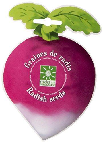 Radis et Capucine Graines de Radis en Sachet decoupe Amusant, Multicolore, 5x5x5 cm